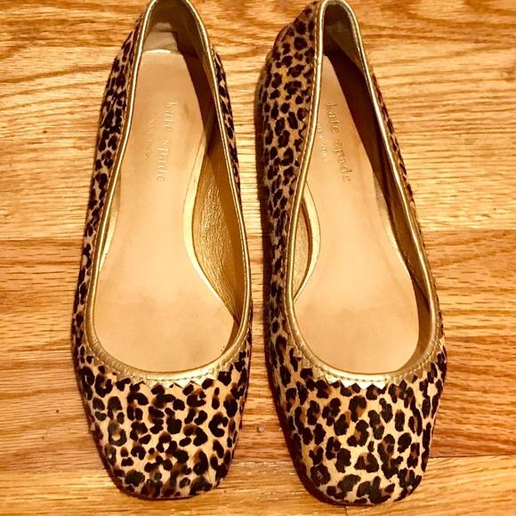 b4b43c81b7b5 kate spade Shoes - kate spade ♤ leopard print hair calf ballet flats